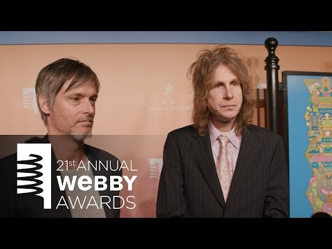 Greg Hahn and David Rolfe on the Red Carpet at the 21st Annual Webby Awards