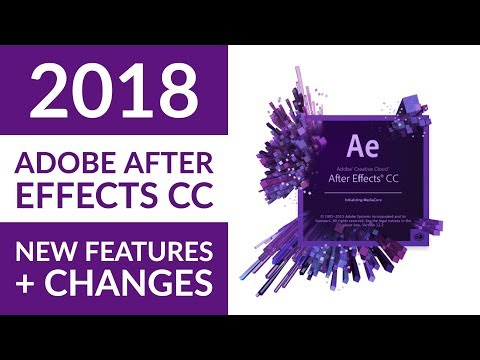 New Adobe After Effects CC 2018 features