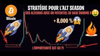 LES ALTCOINS QUE PERSONNE NE SURVEILLE AVEC UN ÉNORME POTENTIEL !! - Analyse & Stratégie Crypto BTC