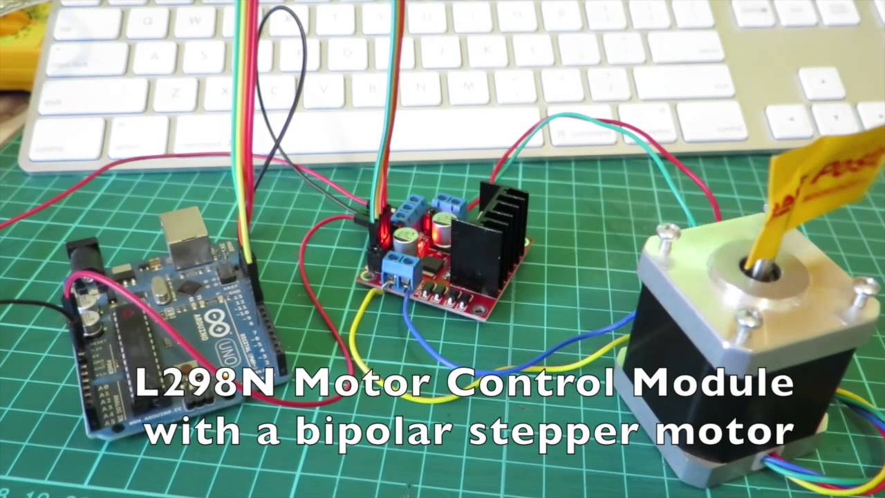 Arduino stepper motor control with L298N - YouTube
