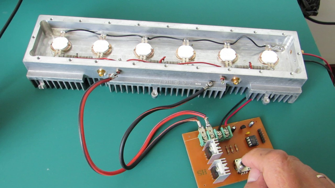 Control De Leds Potencia Con Pwm Y Microcontrolador Pic12f683 Pic16f628 4 Rgb Led Controller
