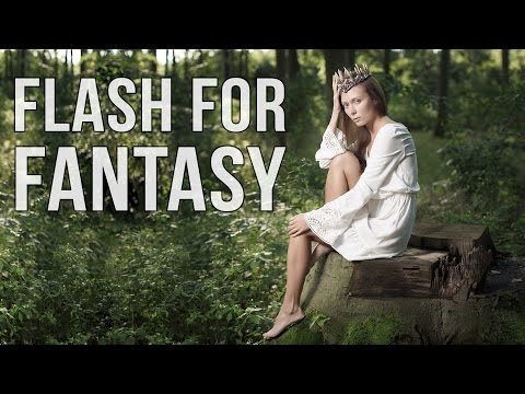 Flash for Fantasy - Outdoor photo shoot with Indra500 studio