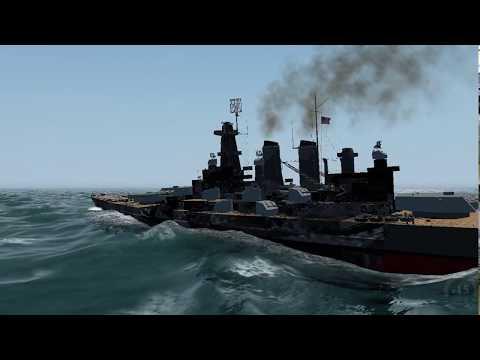 DKM Tirpitz vs USS North Carolina (LSH3 Ship battle)