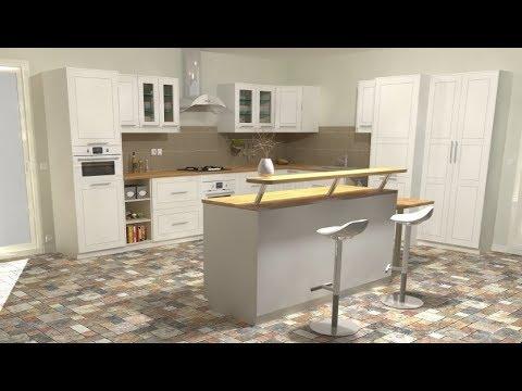 concevoir sa cuisine avec sketchup doovi. Black Bedroom Furniture Sets. Home Design Ideas