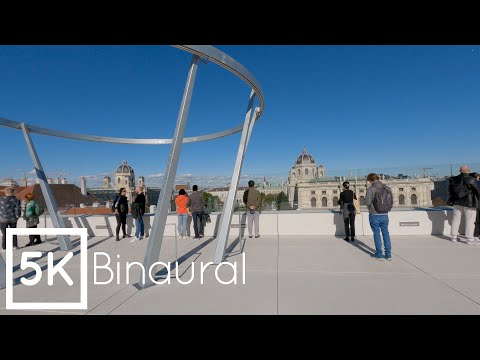 5K GoPro Hero 9 footage - MQ Libelle Terrace in Vienna with Binaural sounds