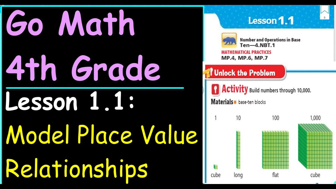 small resolution of Go Math 4th Grade Lesson 1.1 Model Place Value Relationships - YouTube