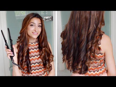 Hannahs Hair Tutorial Curls With A Straightener Amelia Liana