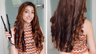 One of Amelia Liana's most viewed videos: Hannah's Hair Tutorial - Curls With A Straightener | Amelia Liana