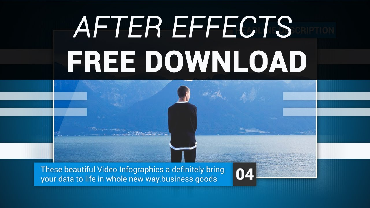 after effects corporate video template free download