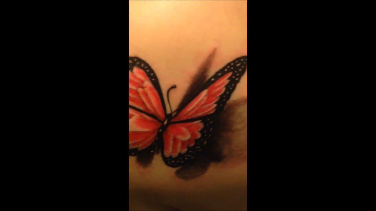 Tatuaż Motyl 3d