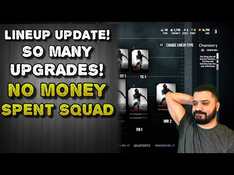 LINEUP UPDATE! SO MANY UPGRADES! | No Money Spent Squad | 8 | Madden 17 Ultimate Team | MUT 17