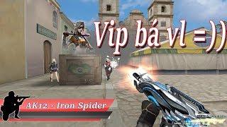 [ Bình Luận CF ] AK-12 VIP Iron Spider , Nhân Vật Athena - Quang Brave