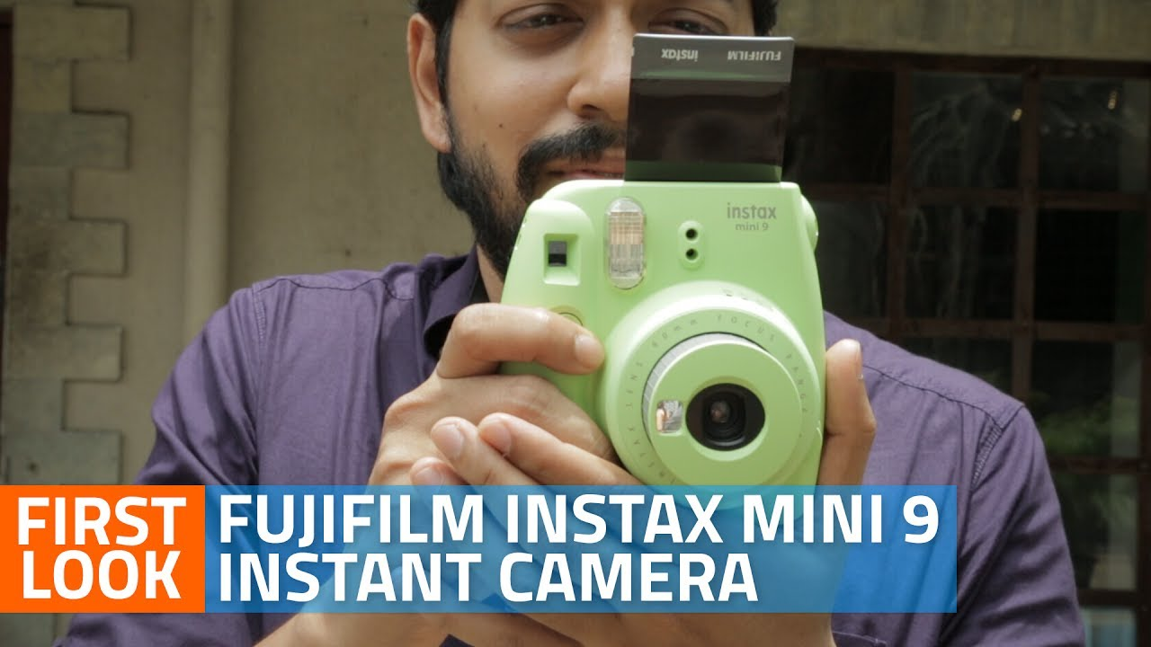 9596a54750 Fujifilm Instax Mini 9 Instant Camera Unboxing and First Look - YouTube