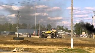 2014 4wheel jamboree lima monster truck backflip