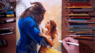 Beauty and the Beast - colored pencil drawing | drawholic