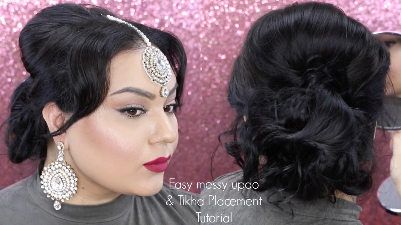 Easy updo for indian wedding guest and how to place a tikha gurp easy updo for indian wedding guest and how to place a tikha gurp dhaliwal youtube solutioingenieria Image collections