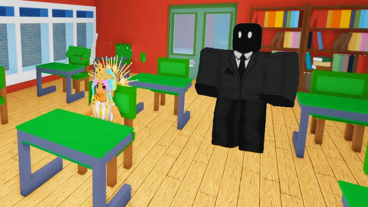Trapped Alone In A Creepy School ( Roblox Story )