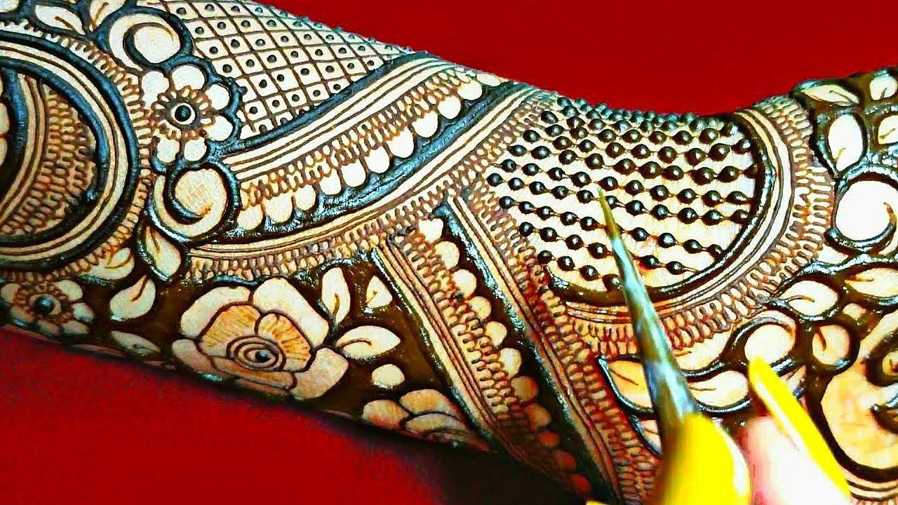 Wedding Mehandi design ll Bridal Mehndi design ll negative space Dulhan mehendi ll henna tutorial