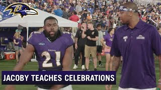 Behind the Celly: Jacoby Jones Teaches Ravens Touchdown Celebrations | Baltimore Ravens