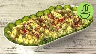 Patatesli Salata Tarifi - Salatalıklı Patates Salatası - Patates Salatası - Salata Tarifi