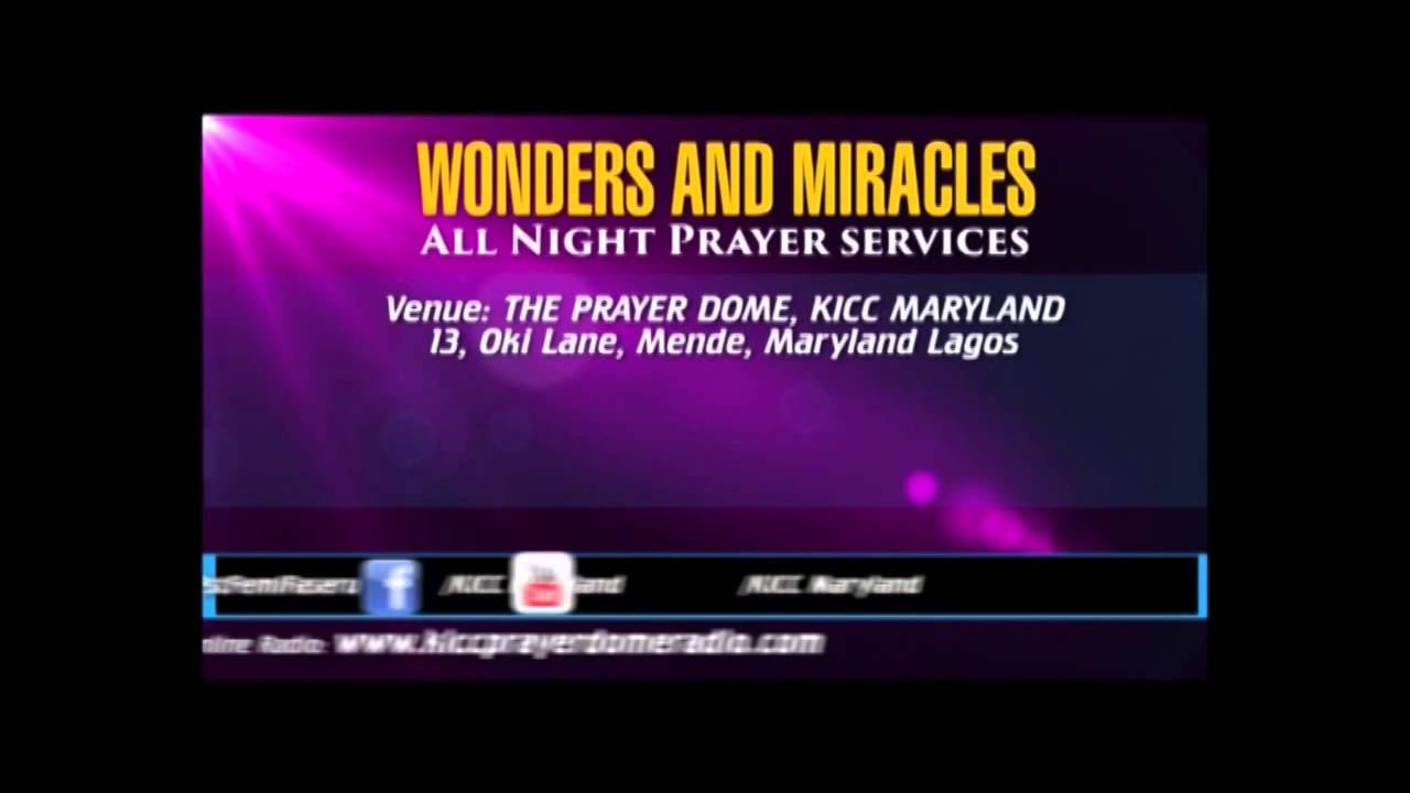 Join Pastor Matthew Ashimolowo this Friday at the Prayer Dome