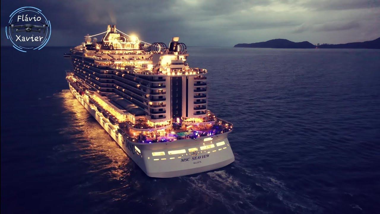 MSC SEAVIEW Brasil, saindo do Porto de Santos, vista por ...