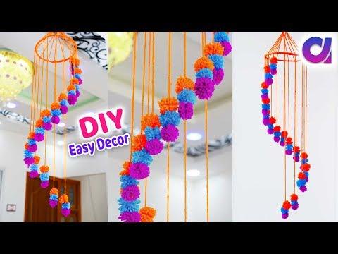 DIY: Awesome Ceiling Hanging idea | Waste Wool Craft Idea | Craft from yarn | Artkala