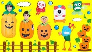今日は、かぼちゃごっこをして遊びました♪ かぼちゃ畑のカボチャさんた...