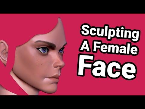 Sculpting A Female Face In ZBrush