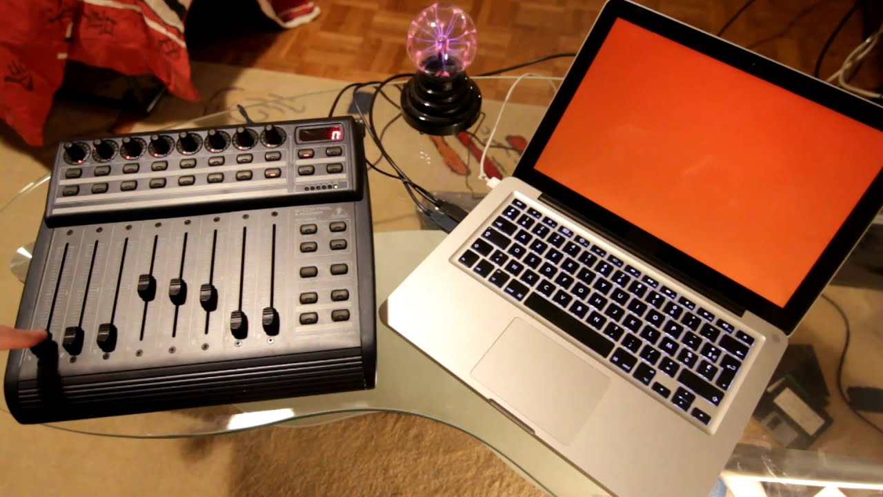 quartz composer behringer bcf 2000 midi controller tests youtube