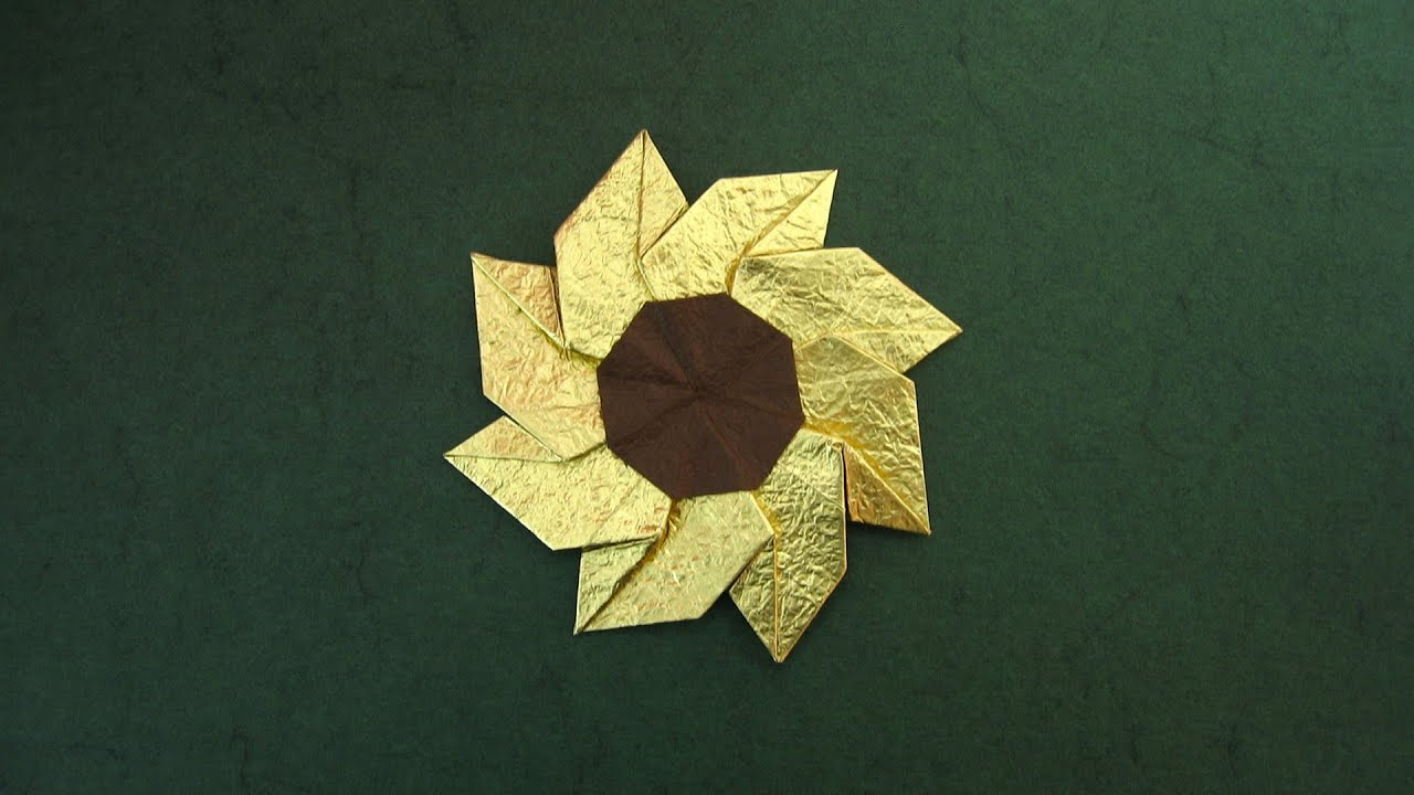 Origami Instructions Flower Gaillardia Meenakshi Mukerji Youtube