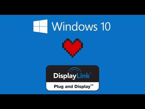 Displaylink Supported Natively In Windows Anniversary Edition