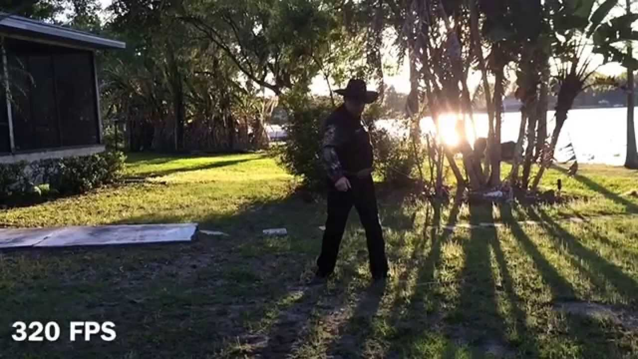 slow motion video of a 12 foot bullwhip breaking the sound barrier