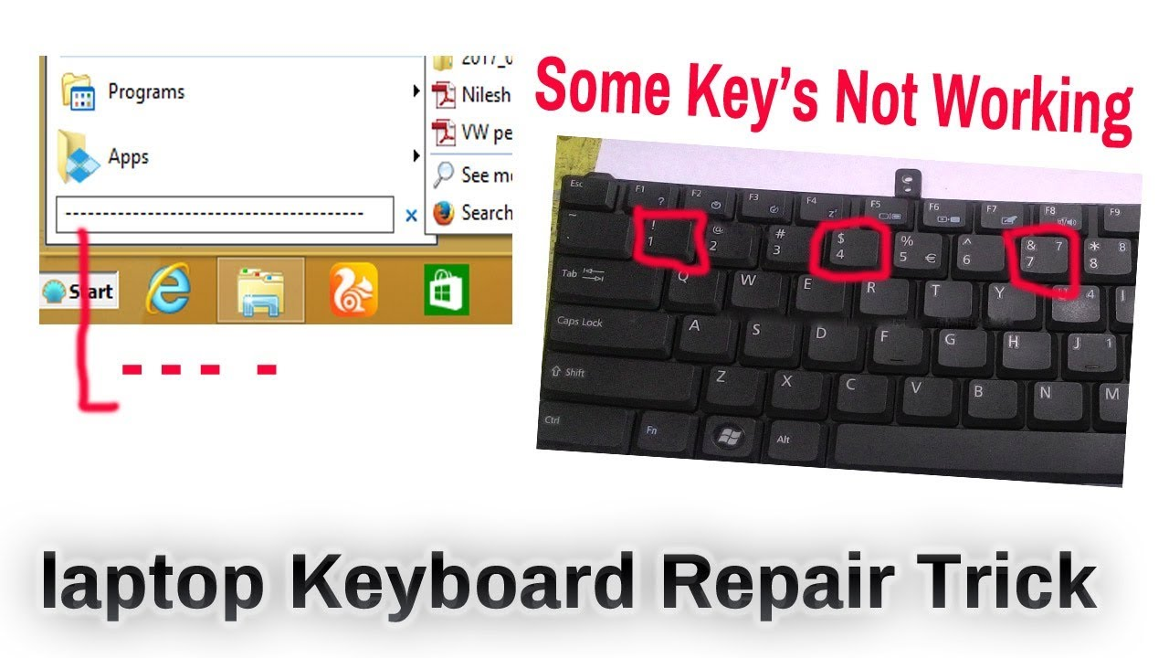 laptop keyboard key not working and ---------------- Fixed - YouTube