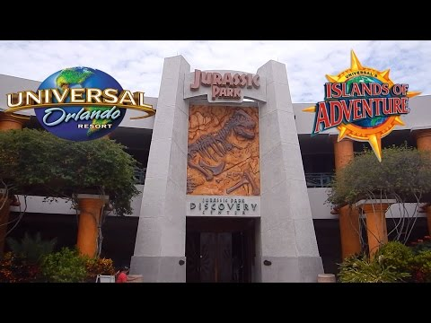Exploring The Jurassic Park Discovery Center Universal Studios Islands Of Adventure Orlando Florida