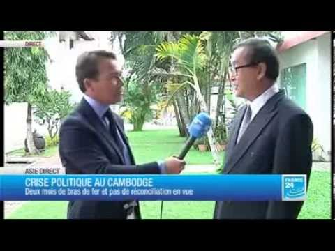 Mr Sam Rainsy Interview with France 24 TV [French Version]