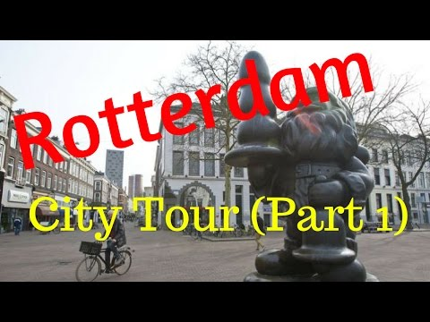 Rotterdam, The Netherlands.. Walking City Tour (Part1/12) Eendrachtsplein/Oudebinnenweg (4K)