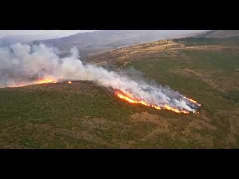 Incendio forestal en Baíllo