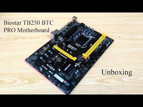 BIOSTAR TB250-BTC Crypto-currency Mining Motherboard Unboxing