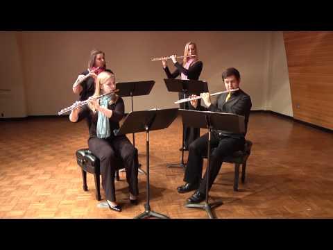 Shimmering Silver Flute Quartet: Wedding March from Midsummer Night's Dream
