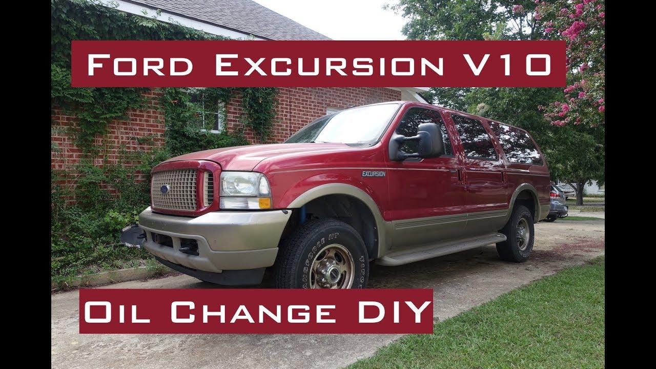 Ford Excursion 6 8l V10 Oil Change Diy 2000 2005 Youtube