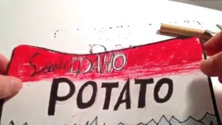 How To Draw The Idaho License Plate | Sketch Doodle Draw