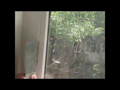 Как вынуть стеклопакет из пластикового окна видео