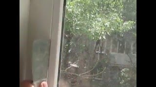 Снятие стеклопакета пластикового окна своими руками видео