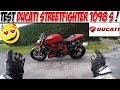 #Moto Vlog 103 : TEST DUCATI STREETFIGHTER 1098 S 160 CH / MACHINE A SOURIRE ! ??