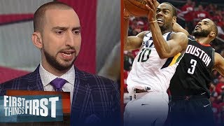 Nick Wright reacts to Utah's Game 2 win over Houston in the 2018 Playoffs | NBA | FIRST THINGS FIRST