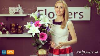 Букет Для тебя - букет в корзинке - букет для мужчины - Доставка цветов Киев - sendflowers.ua(, 2014-08-01T14:54:56.000Z)