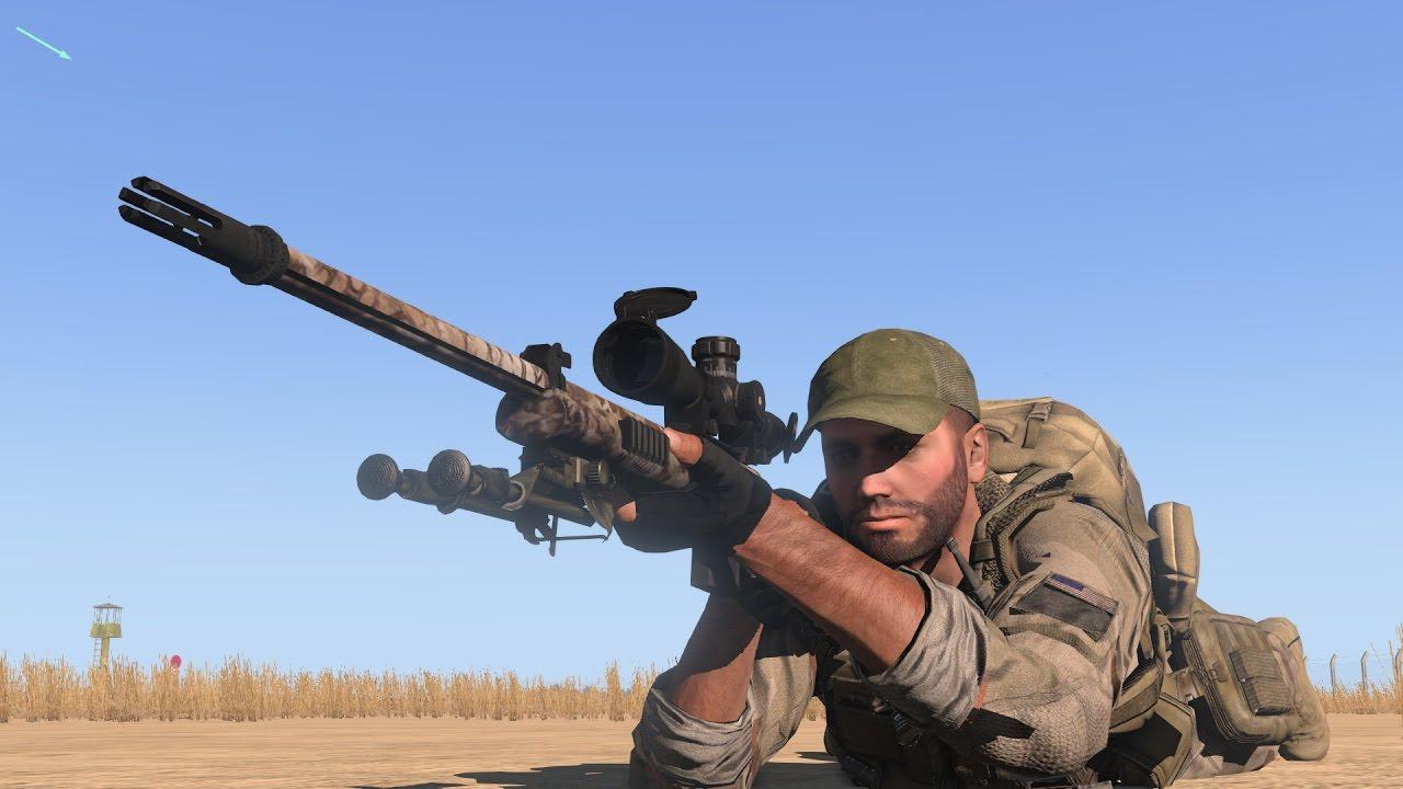 American Sniper Longest Shot 2100 yard / 1920 meter! (Chris Kyle in Arma 3  with ACE3 mod)