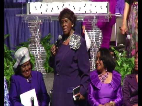 COGIC Supervisor Mother Walton giving advice to the Ladies at WIC 2016! Too Funny