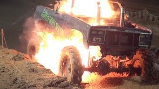 KAUFMAN MUD TRUCK EXPLODES INTO FLAMES!!